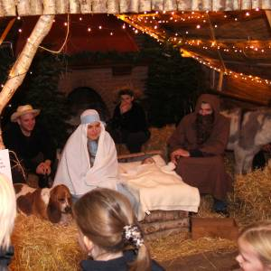 Levende kerststal maakt ook in Geesteren naam waar