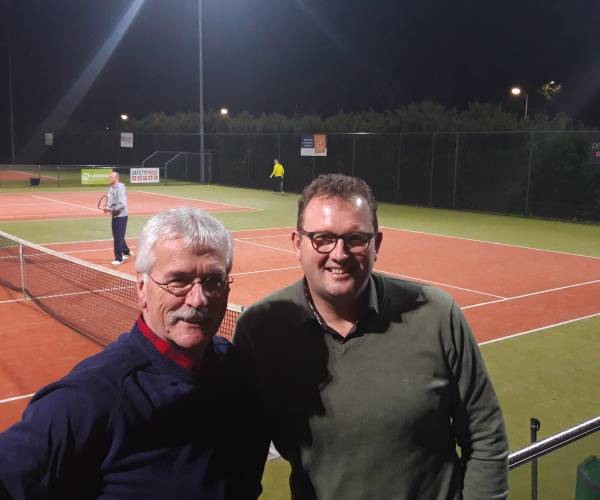 René Kuipers hanteert voorzittershamer bij Tennisvereniging de Bekkelweide