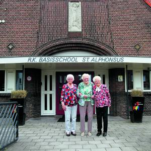 Grada (92), Dien (98) en Marie (99) delen herinneringen aan lang vervlogen tijden op de St. Aphonsusschool