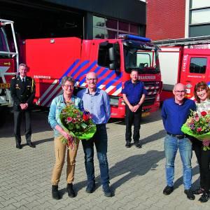 Brandweer Tubbergen huldigt jubilarissen Henry Eppink en Leo Heerts