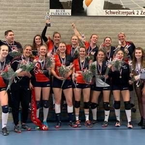 VV Krekkers Dames 2 schrijft geschiedenis met bekerwinst