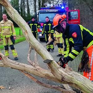 Brandweer Tubbergen rukt uit door storm Ciara