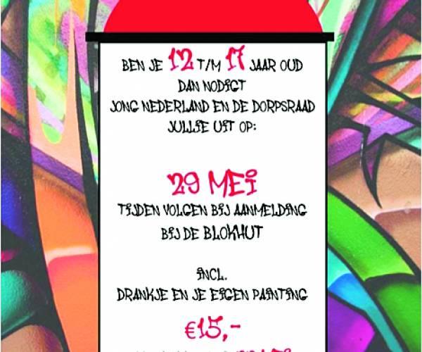 Graffiti workshop voor jongeren Harbrinkhoek-Mariaparochie