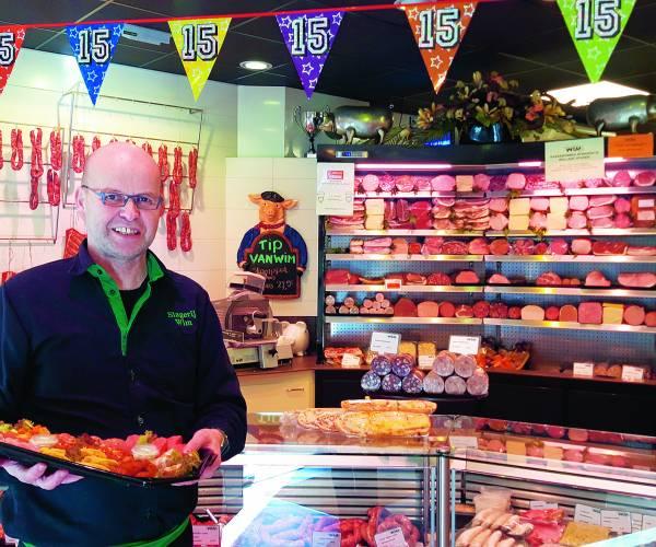 Slager Wim Oosterik is al vijftien jaar dorpsslager in hart en nieren
