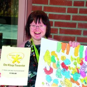 Eerste hoofdprijs thuiskunstwedstrijd De Klup Twente voor Nicole Maseland