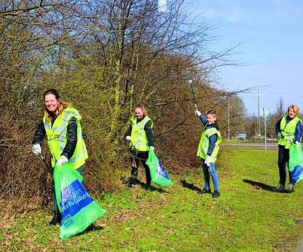 Ruim 150 vrijwilligers op de bres tegen zwerfvuil in de gemeente Tubbergen