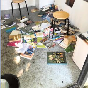 Jeugd biedt excuses aan voor vernielen Boekenhuisje Vasse