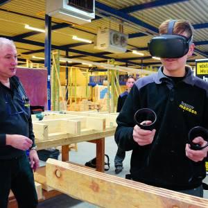 Onderwijs met VR-bril Oculus Quest voor leerling-bouwvakkers