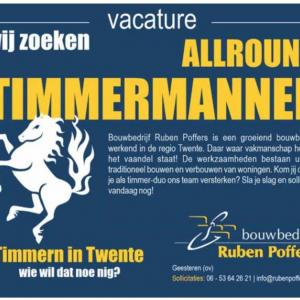 Vacature ALLROUND TIMMERMANNEN